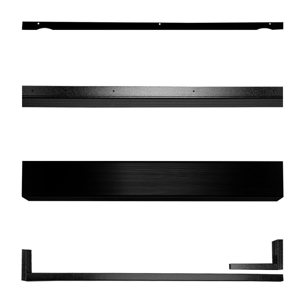 Unique Home Designs Black Security Door Seal Kit 5sh910black36 The