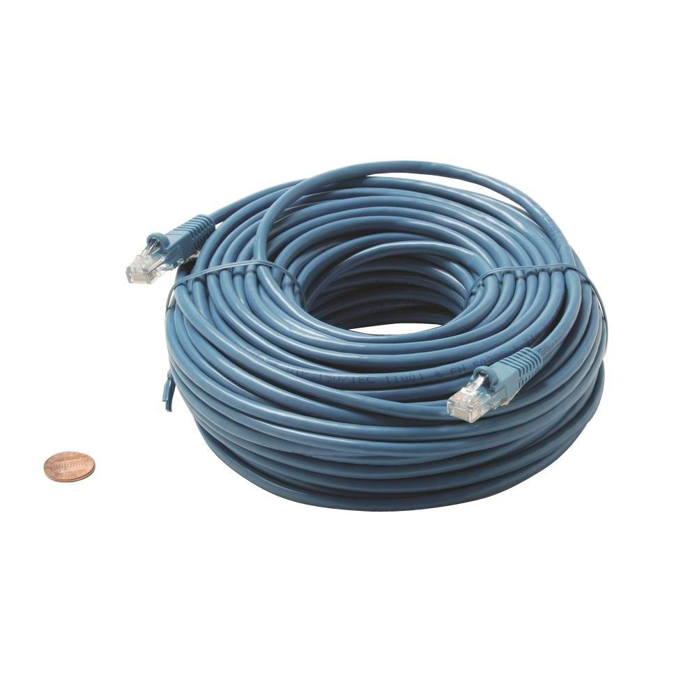 Leviton Gigamax 5 Ft Cat 5e Patch Cord Blue 5g460 5l The Home Depot Cat5e Yellow Ethernet Cable Bootless 50 Foot Part Number 100 Molded Utp