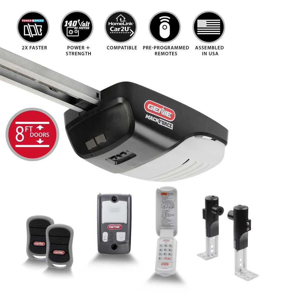 MachForce Plus XL 2 HP Premium Screw Drive Garage Door Opener for 8 ft High Doors Plus Wireless Keypad