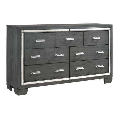 Kenzie 7-Drawer Grey Dresser