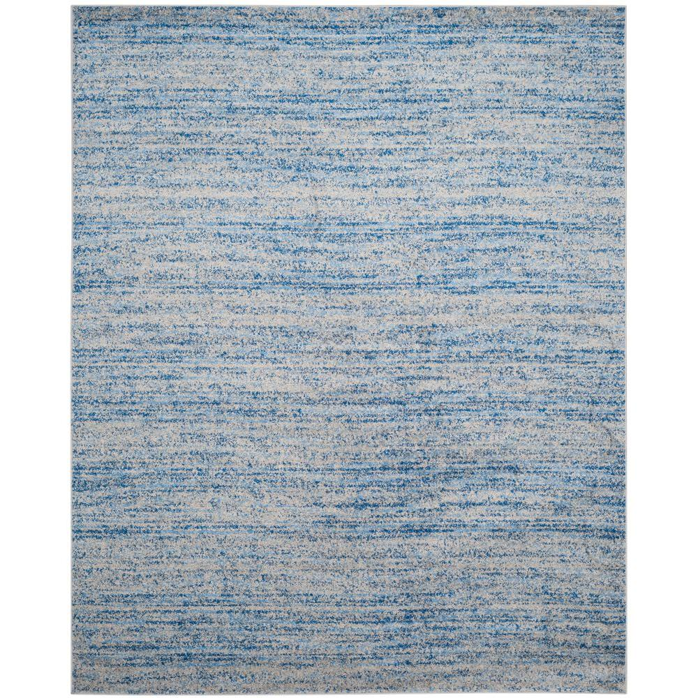 Adirondack Blue Silver 8 Ft X 10 Area Rug