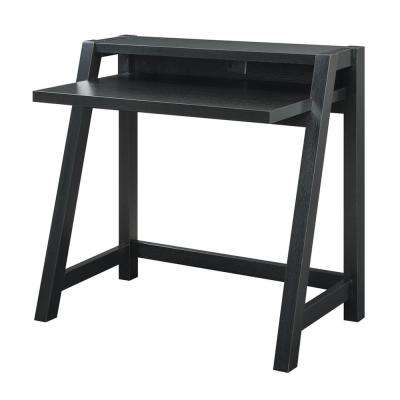 Newport Black Lilly Desk with Shelf