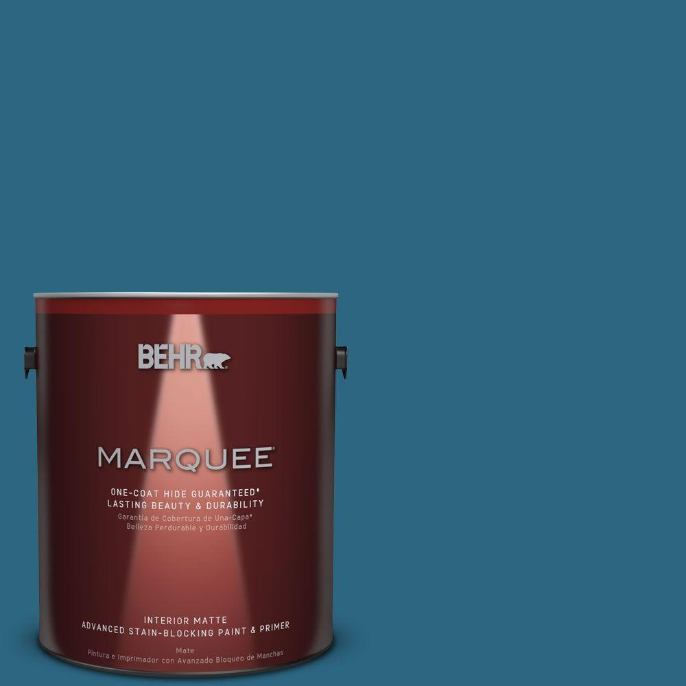 1 gal. #M480-7 Ice Cave One-Coat Hide Matte Interior Paint