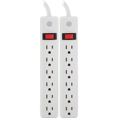 6-Outlet Power Strip (2-Pack)