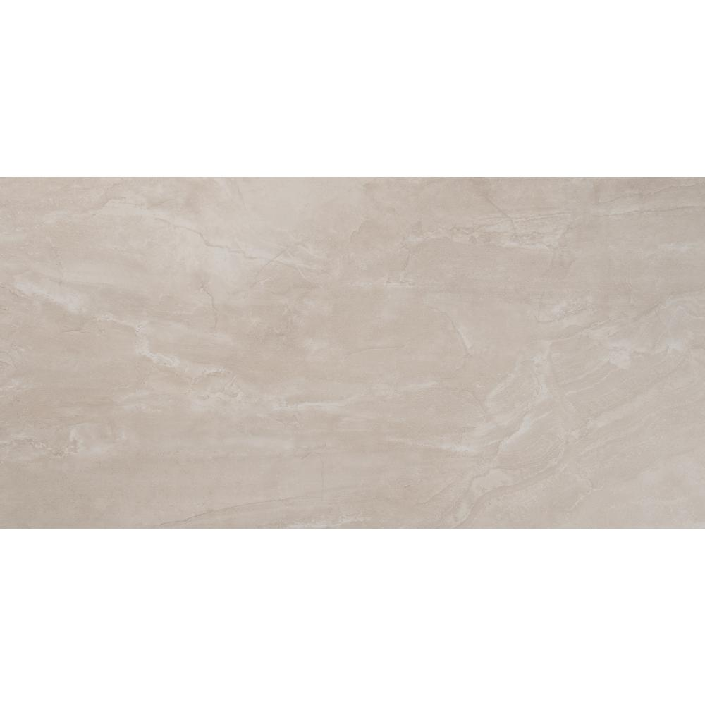 Naples Gris 12 in. x 24 in. Glazed Ceramic Floor and