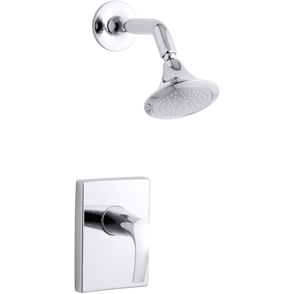 Symbol 1-Spray 6.3125 in. 2.5 GPM Fixed Shower Head with Lever