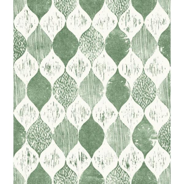 Magnolia Home by Joanna Gaines 56 sq.ft. Woodblock Print Wallpaper ME1567