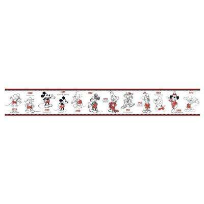 Kids Mickey Mouse 1928-2010 Wallpaper Border