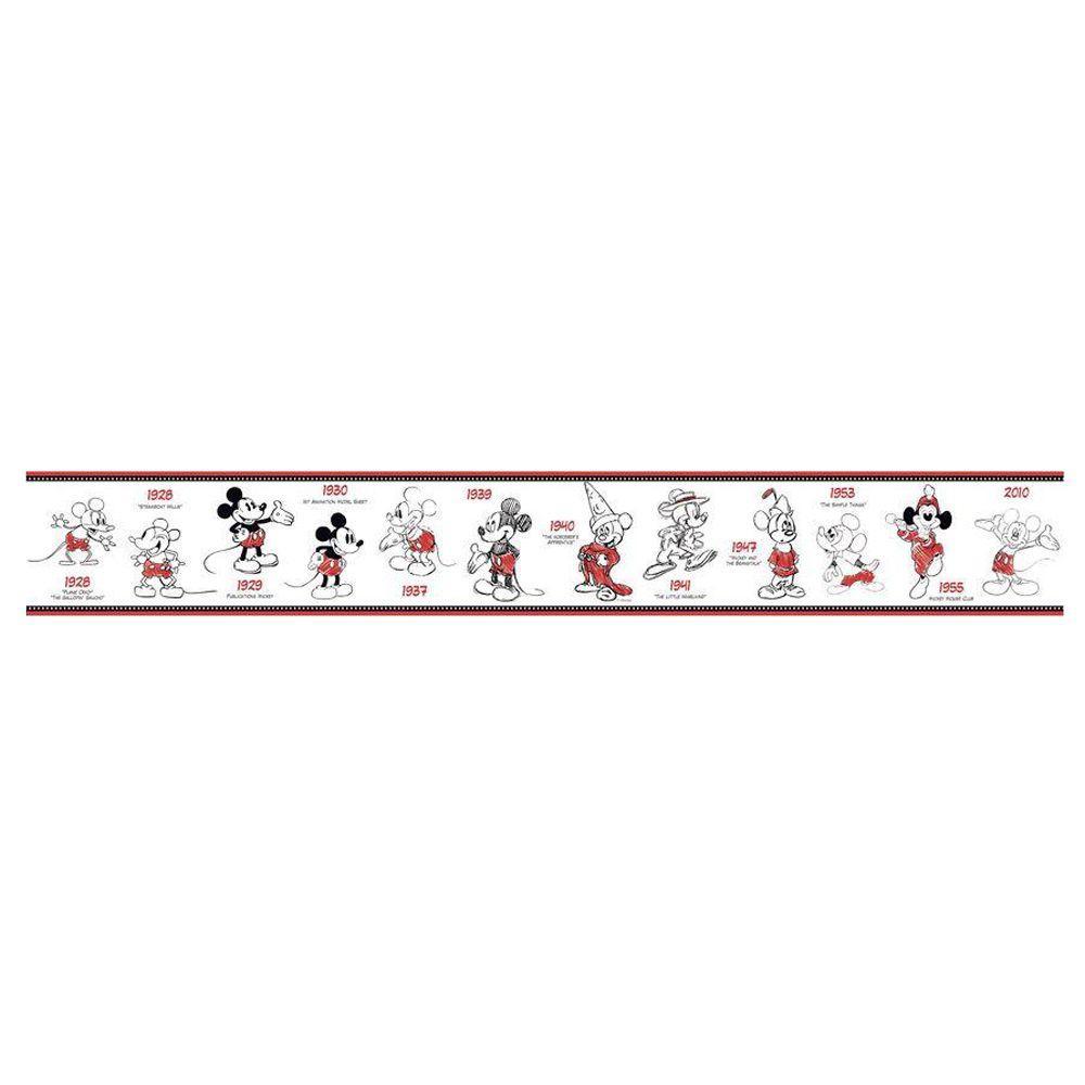 Kids Mickey Mouse 1928-2010 Wallpaper Border