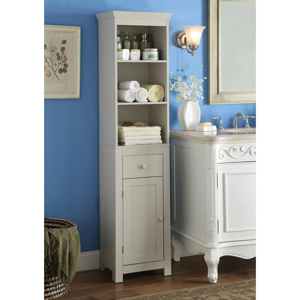 4D Concepts Rancho 15.75 in. W x 11.8 in. D x 64.5 in. H Tower Cabinet in Vanilla Cappuccino