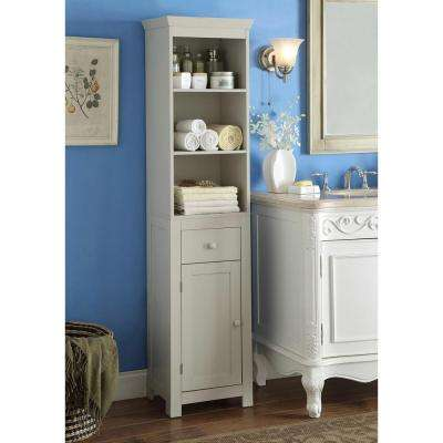Rancho 15.75 in. W x 11.8 in. D x 64.5 in. H Tower Cabinet in Vanilla Cappuccino