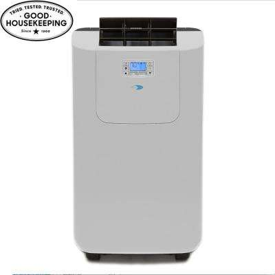 Elite 12,000 BTU Dual Hose Digital Portable Air Conditioner with Dehumidifier
