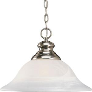 bedford collection 1light brushed nickel pendant - Brushed Nickel Pendant Light