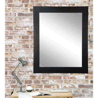 Current Trend 32 in. x 38 in. x 5 in. Etched Black Vanity Wall Framed Mirror