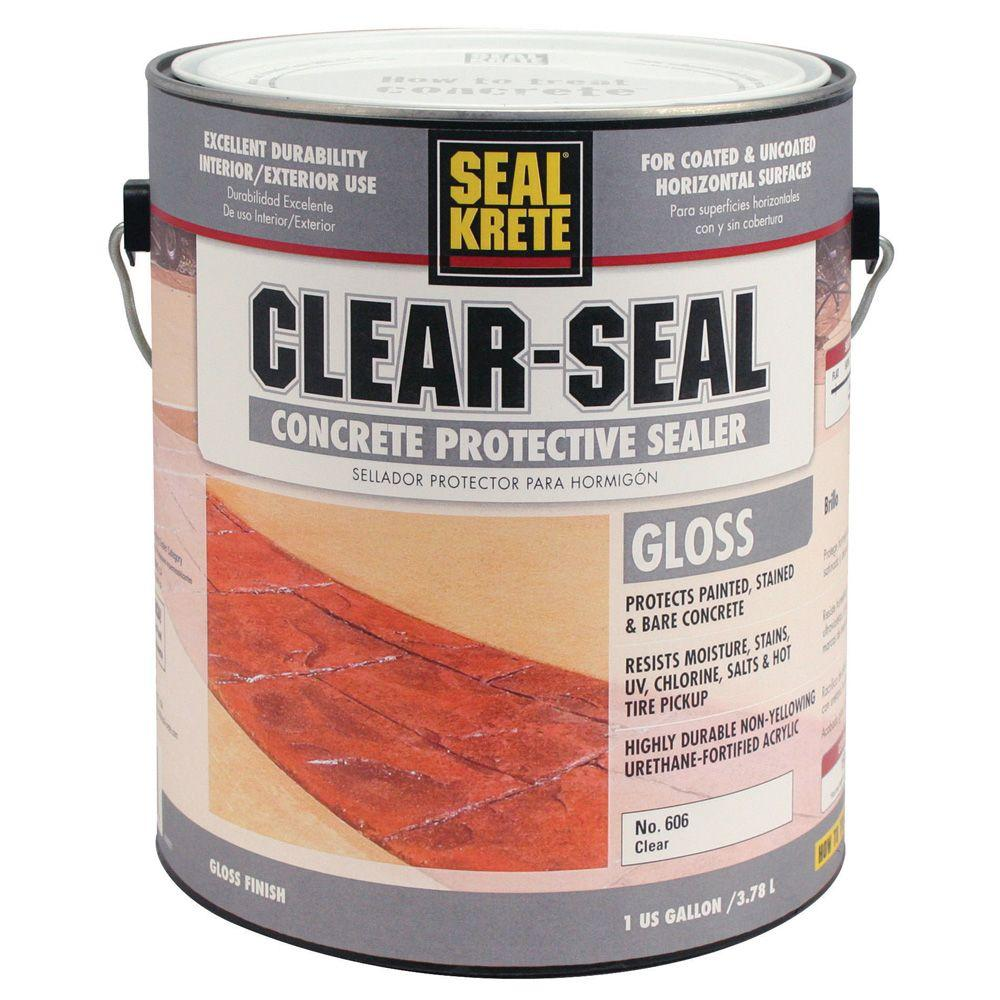 a2cc8e9404ea Seal-Krete 1 gal. Clear Seal Gloss Sealer-606001 - The Home Depot