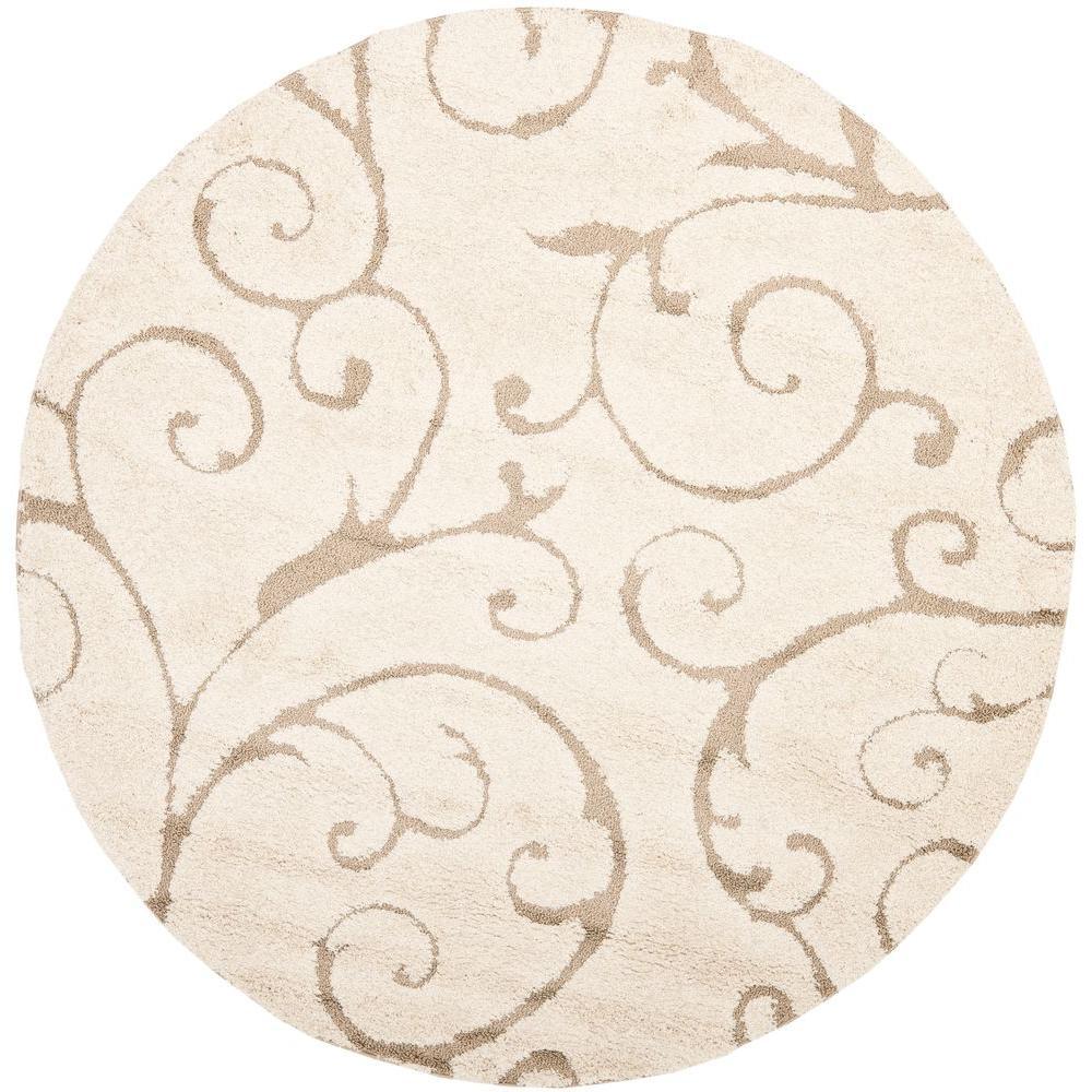 Safavieh Florida Cream Beige 4 Ft X Round Area Rug
