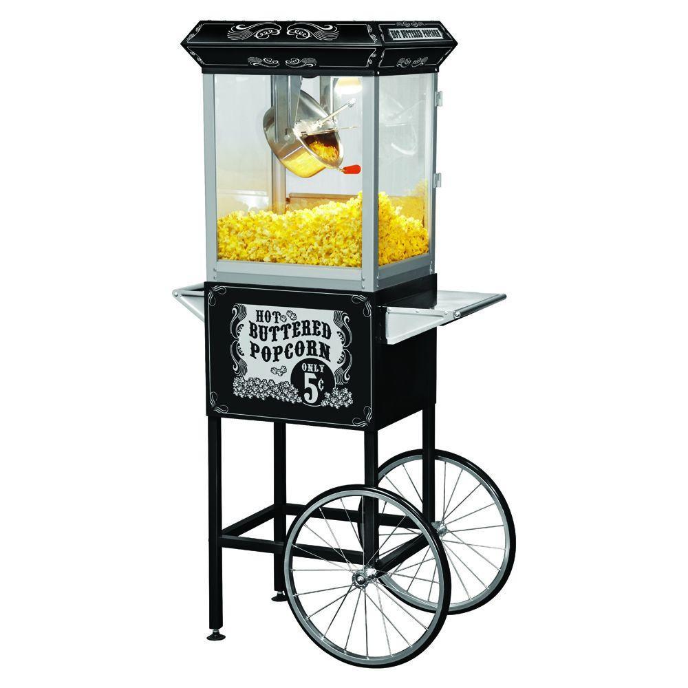 Funtime Carnival Style 8 oz. Popcorn Machine & Cart