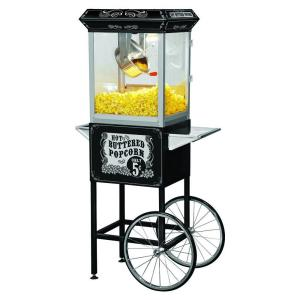 Click here to buy Funtime Carnival Style 8 oz. Popcorn Machine & Cart by Funtime.
