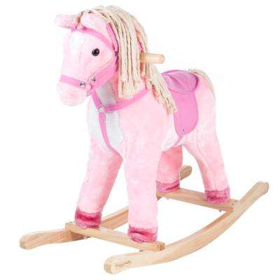 Plush Pink Rocking Patty the Pony with Cotton Hair and Tail