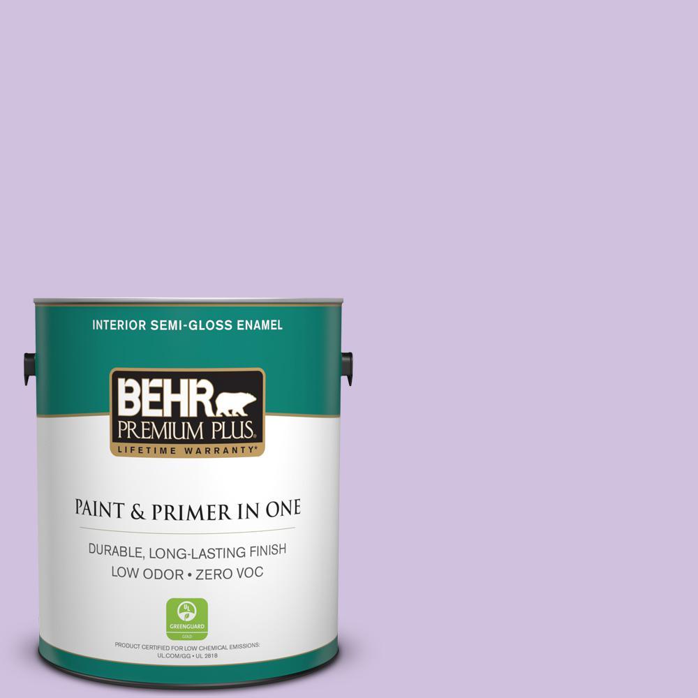 1-gal. #650A-3 Fresh Heather Zero VOC Semi-Gloss Enamel Interior Paint