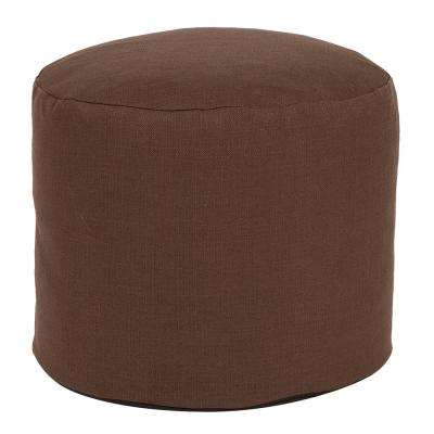 Tall Pouf Sterling Chocolate Brown Ottoman