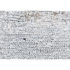 Abstract White Brick Wall Mural