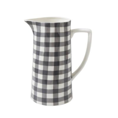 64 oz. Black Gingham Pitcher