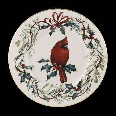 Winter Greetings Cardinal Accent Plate