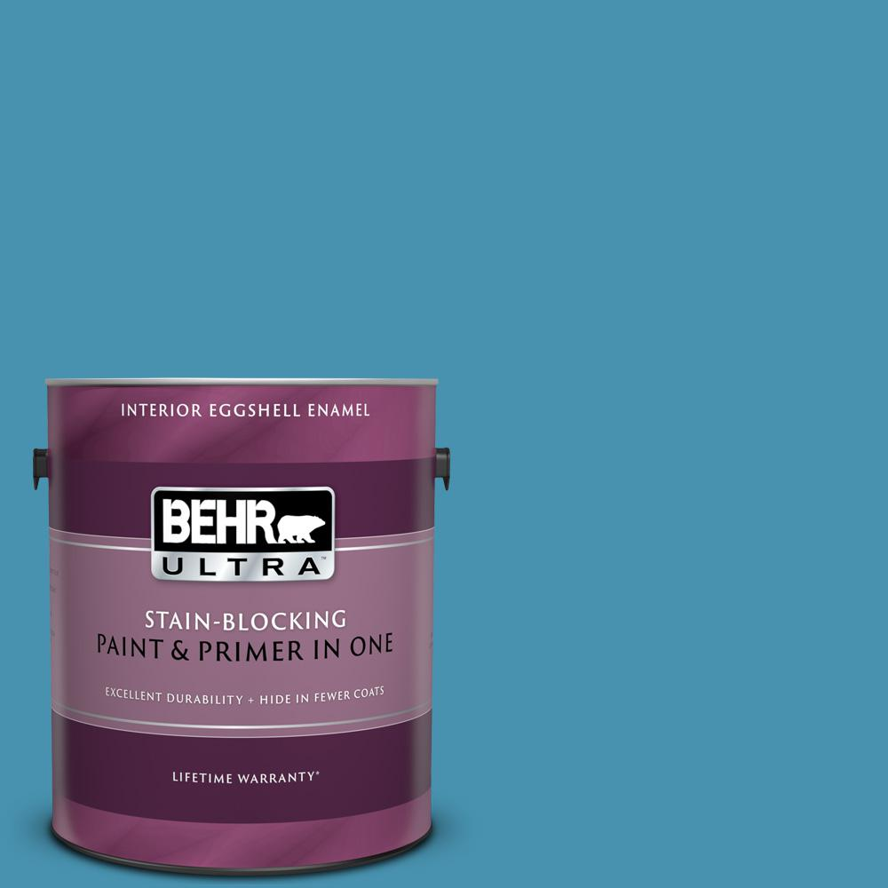 Behr Ultra 1 Gal M490 5 Jet Ski Eggshell Enamel Interior Paint And Primer In One 275401 The Home Depot