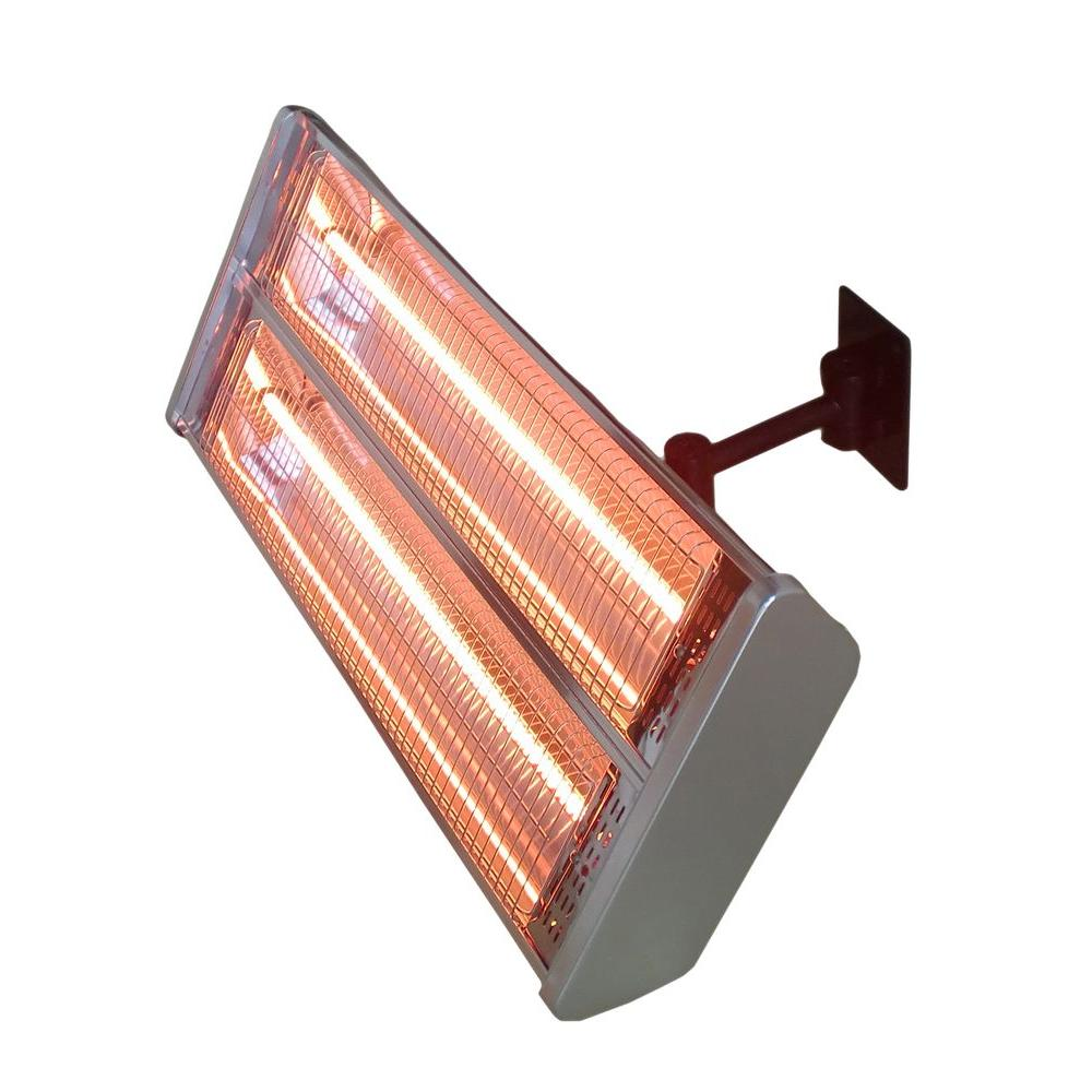 Merveilleux AZ Patio Heaters 1,500 Watt Infrared Double Electric Wall Mount Electric Patio  Heater