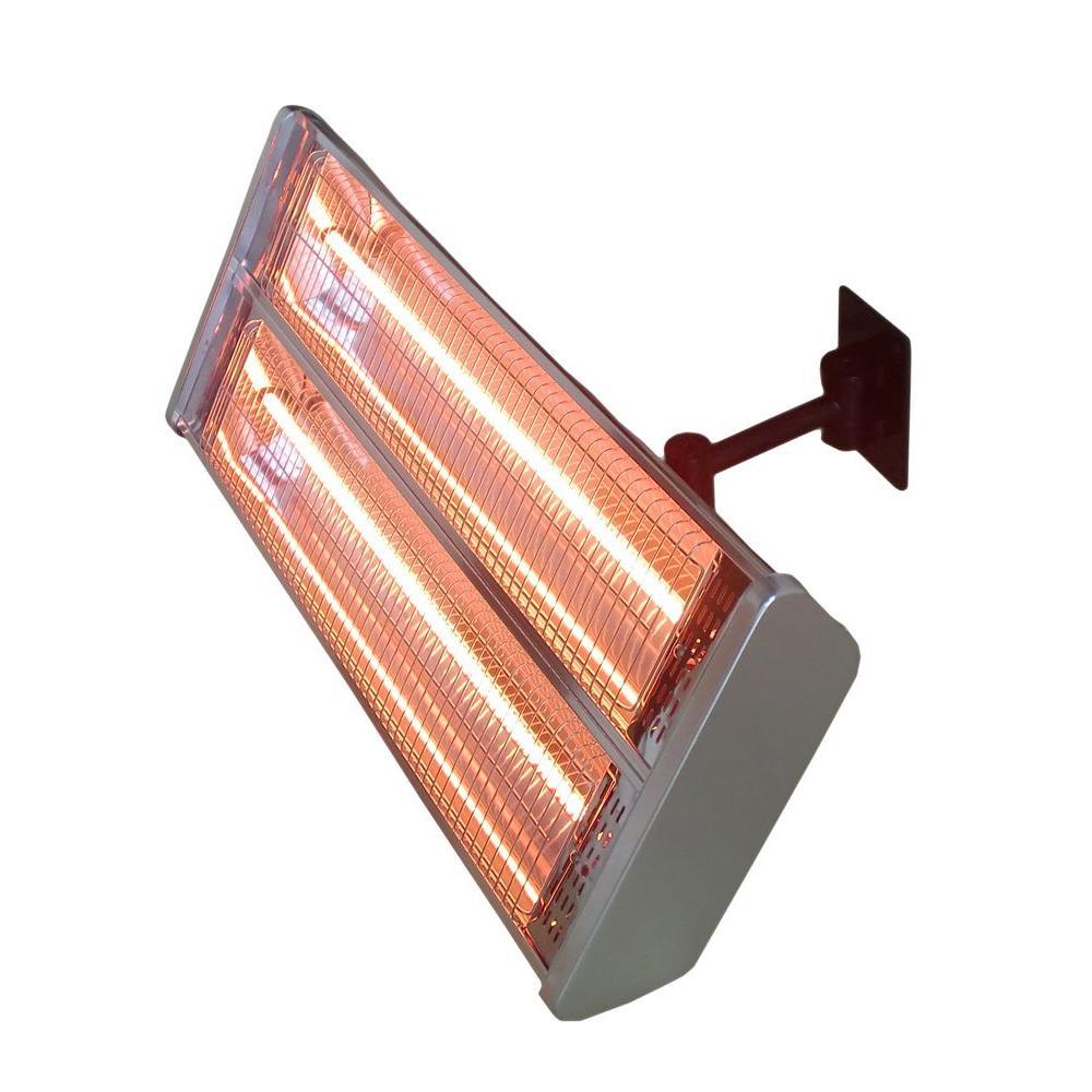 AZ Patio Heaters 1,500-Watt Infrared Double Electric Wall-Mount Electric Patio Heater by AZ Patio Heaters