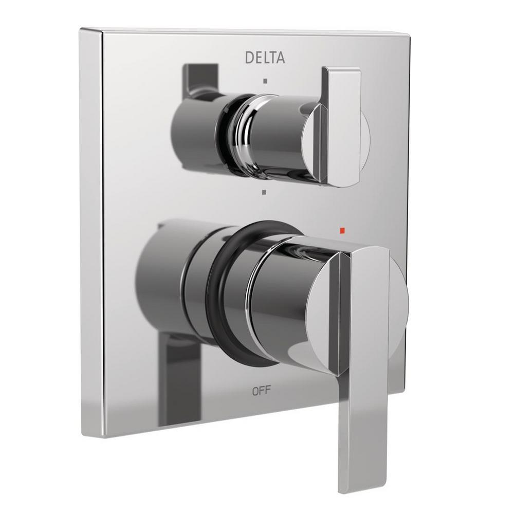 Ara Modern 2-Handle Wall-Mount Valve Trim Kit with 6-Setting Integrated Diverter