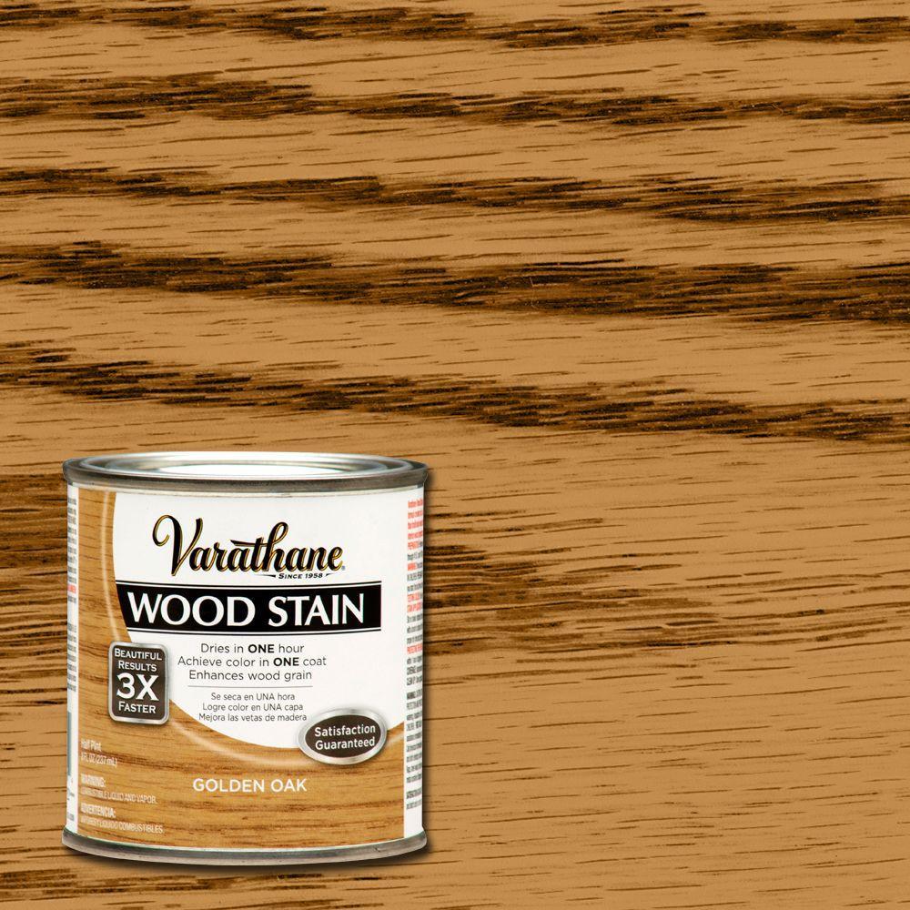 Varathane 8 Oz Golden Oak Wood Interior Stain 266199 The Home Depot