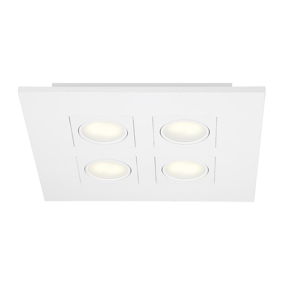 9.2-Watt White Integrated LED Flushmount