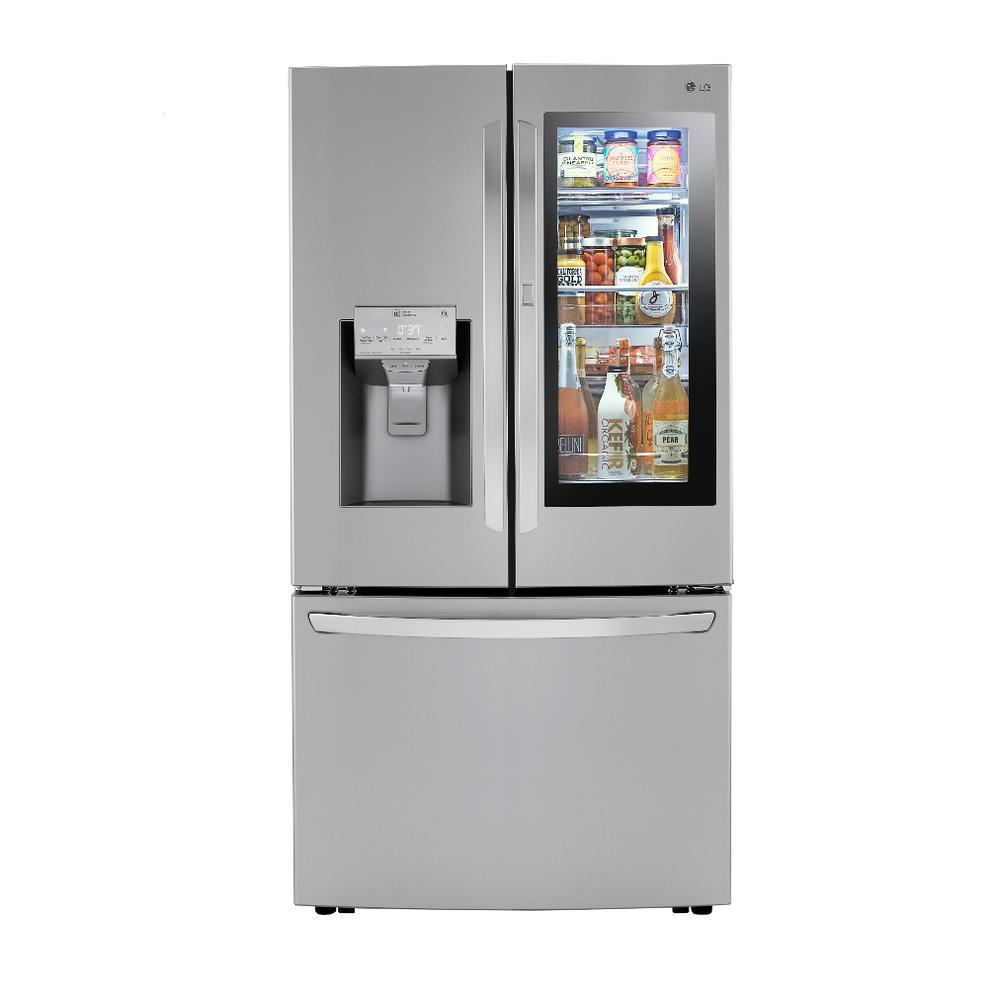 LG Electronics 23.3 cu. ft. French Door Refrigerator InstaView Door-In-Door, Dual and Craft Ice in PrintProof Stainless, Counter Depth, PrintProof was $3999.0 now $2698.2 (33.0% off)