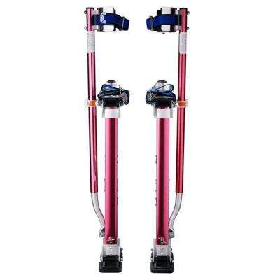 24 in. to 40 in. Adjustable Height Drywall Stilts in Red