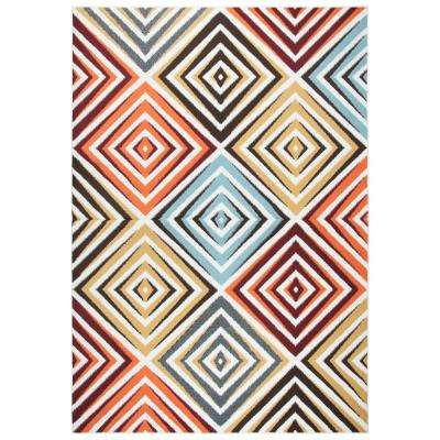 Xpression Multicolor 5 ft. 2 in. x 7 ft. 3 in. Rectangle Area Rug