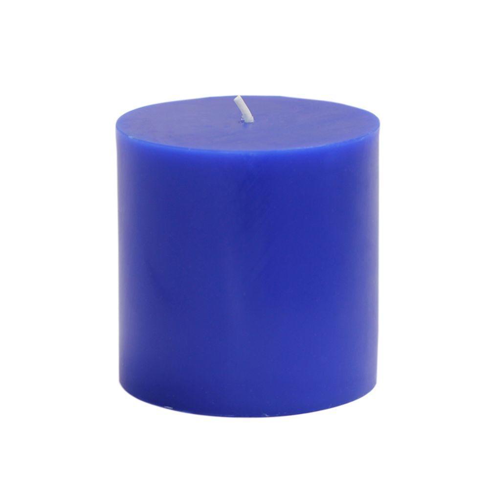 3 in. x 3 in. Blue Pillar Candles Bulk (12-Case)
