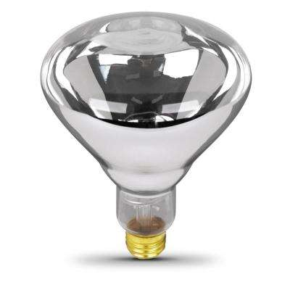 250-Watt Clear BR40 Dimmable Incandescent 120-Volt Infrared Heat Lamp Light Bulb (1-Bulb)