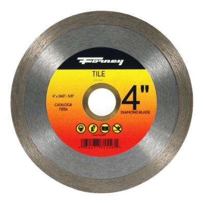 4 in. Continuous Rim Diamond Tile-Cutting Blade