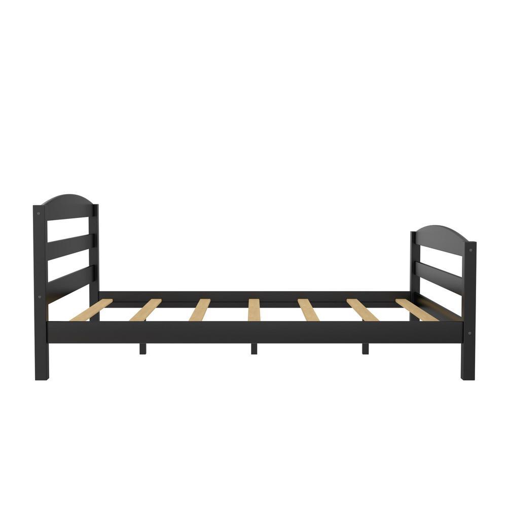 Owen Wood Bed, Bedroom Furniture, Full Size Frame, Black