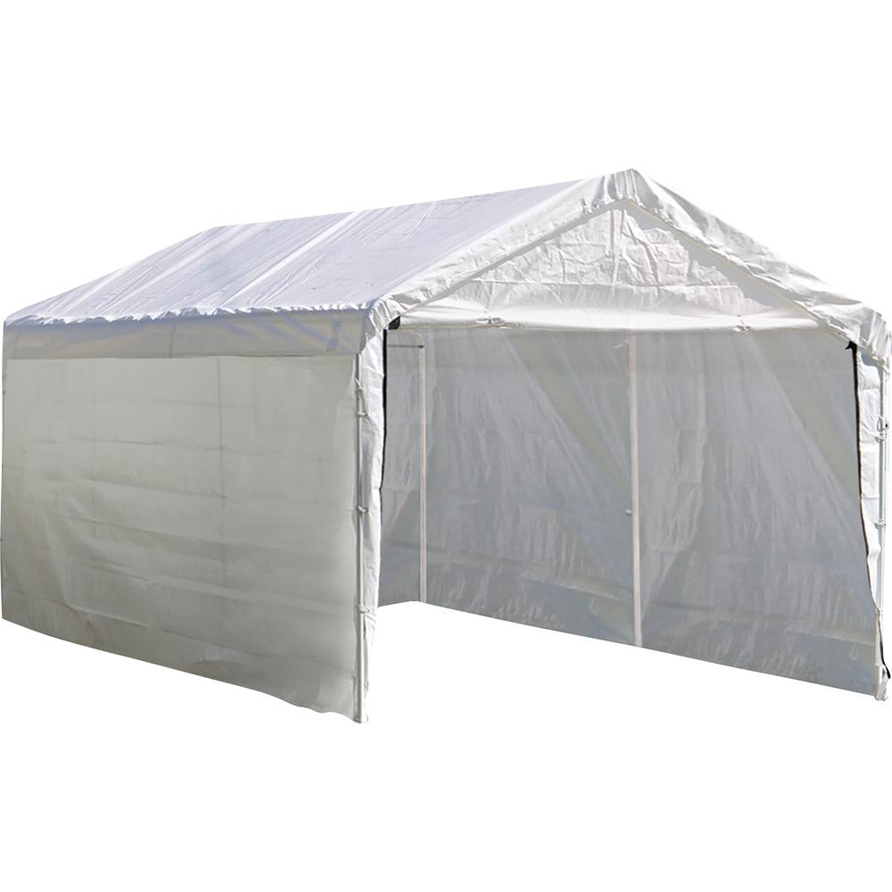 ShelterLogic 10 ft  x 20 ft  Sidewalls and Doors Kit for Max AP White Canopy