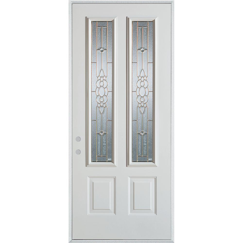 37.375 in. x 82.375 in. Traditional Brass 2 Lite 2-Panel Prefinished  sc 1 st  The Home Depot & 12 Panel - Doors With Glass - Steel Doors - The Home Depot pezcame.com