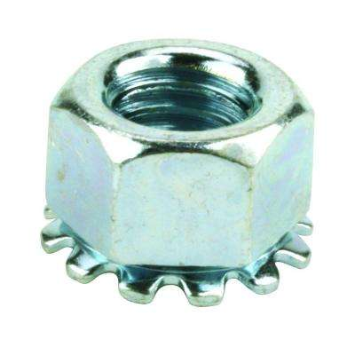 #10-24 Coarse Zinc-Plated Steel Keep Lock Nut (4 per Bag)