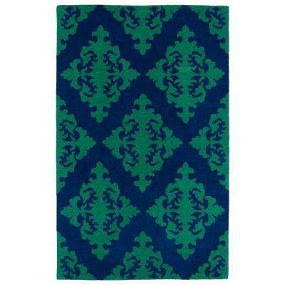 Evolution Navy 5 ft. x 8 ft. Area Rug