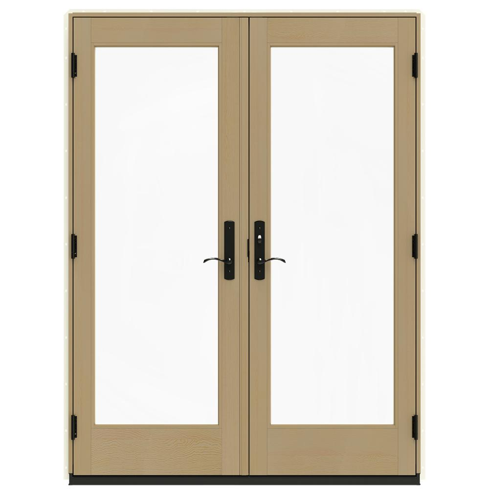 jeld wen 60 in x 80 in w 4500 vanilla clad wood - 60 Patio Door