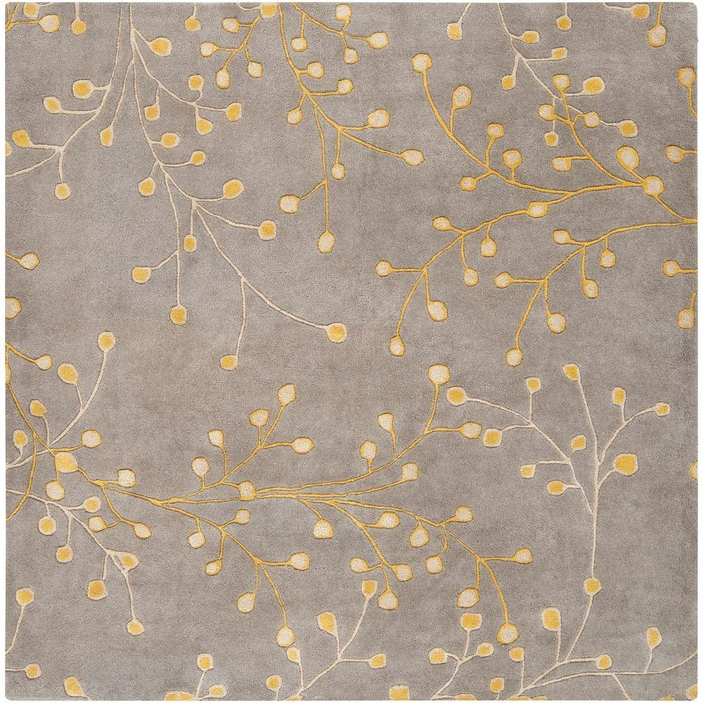 Artistic weavers bari taupe 6 ft x 6 ft square area rug