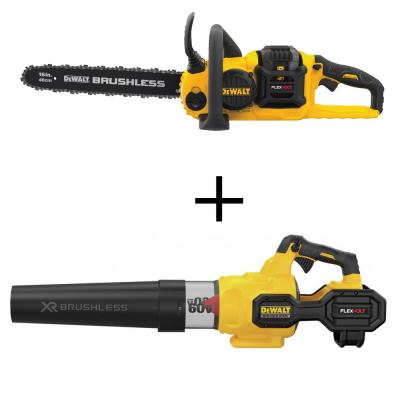 16 in. 60V MAX Cordless Brushless FLEXVOLT Chainsaw with 125 MPH 600 CFM 60V Axial Blower (Tool Only)