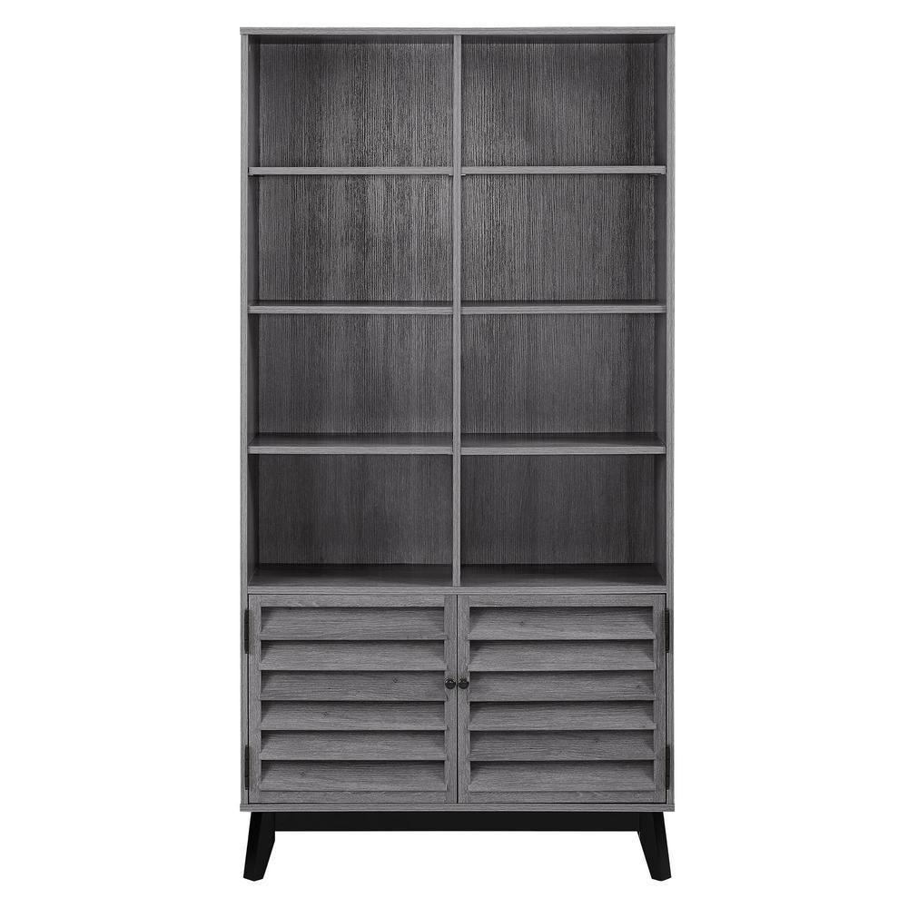 Gammon Gray Oak Bookcase