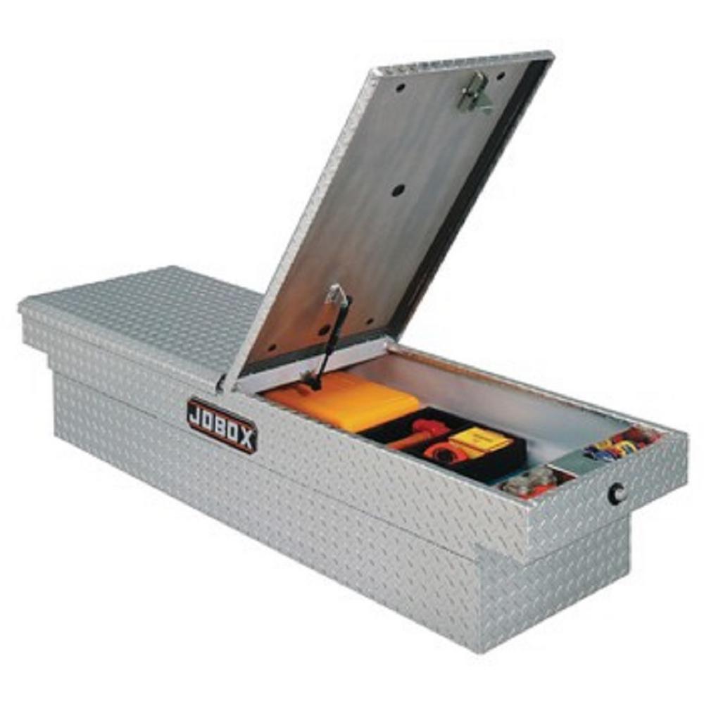 JOBOX 71 in. Aluminum Mid-Lid Dual Lid Full Size Crossover Tool Box in Bright